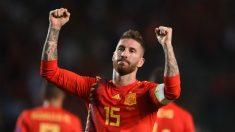 Sergio Ramos celebra su gol ante Croacia (Getty).