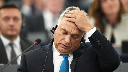 Viktor Orbán, primer ministro de Hungria, ante el Parlamento Europeo. (AFP)