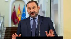 José Luis Ábalos, ministro de Fomento, este jueves en Murcia