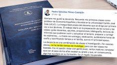 El comunicado que ha colgado Pedro Sánchez en su perfil de Facebook | Tesis Pedro Sánchez