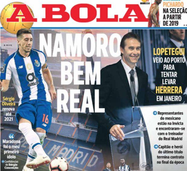 En Portugal aseguran que Lopetegui se reunió con Héctor Herrera para cerrar su fichaje