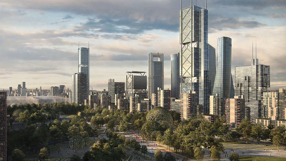 Nuevo skyline de Madrid tras la Operación Chamartín – Madrid Nuevo Norte.
