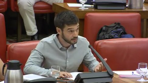 Pablo Bustinduy, portavoz de Podemos en la Comisión de Asuntos Exteriores del Congreso.