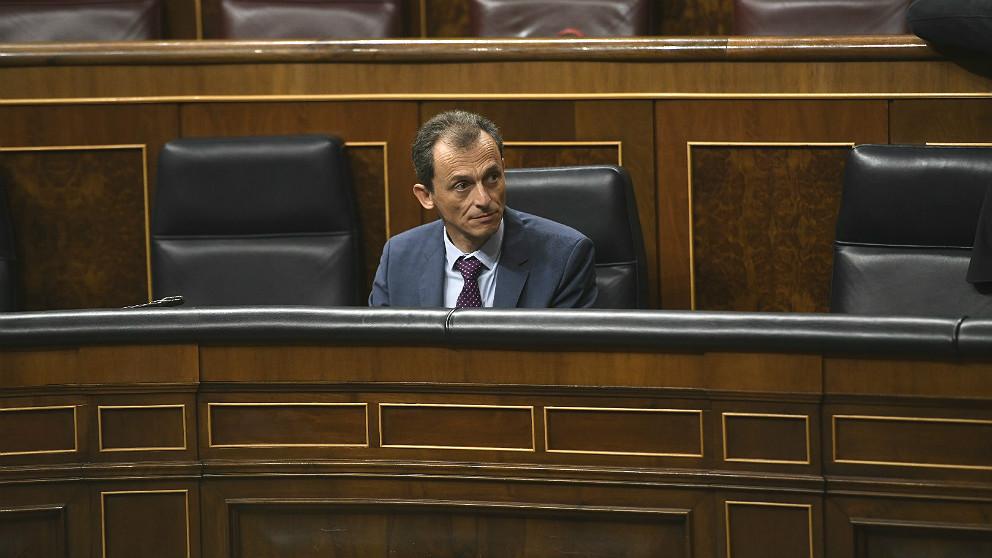 Pedro Duque, ministro de Universidades, en el Congreso. (EP)