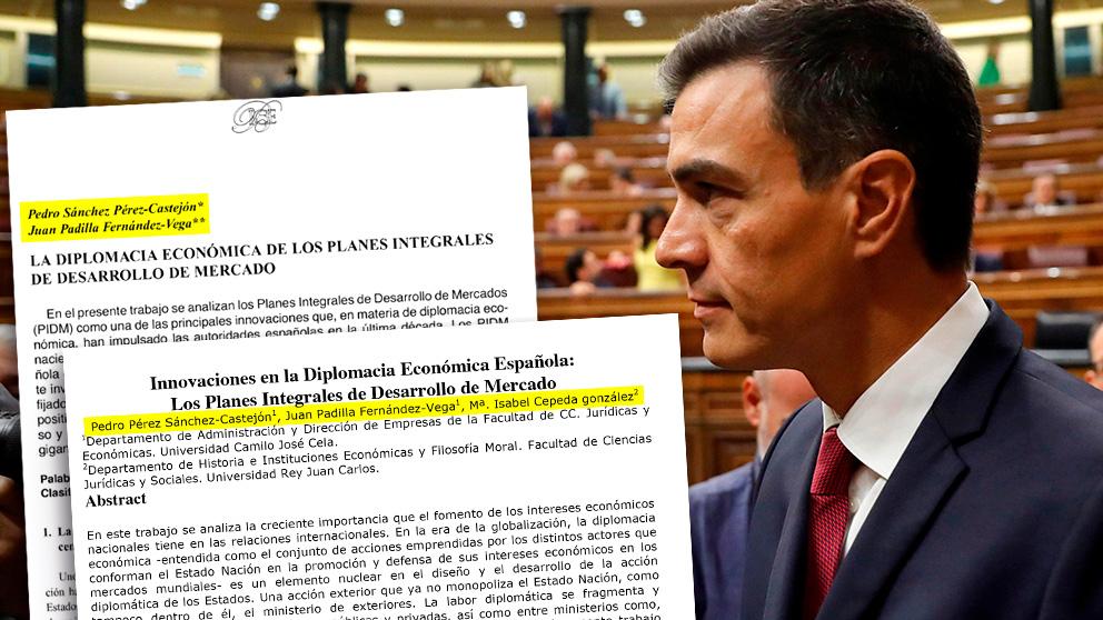 Pedro Sánchez y los dos artículos previos a la tesis que publicó con el evaluador Padilla y la directora Cepeda.