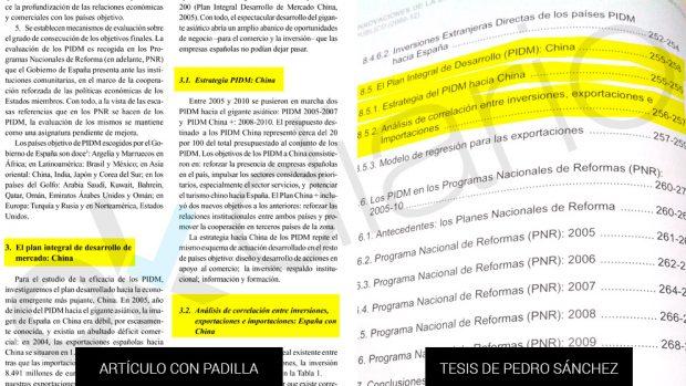 Sánchez trasplantó a su tesis párrafos y conclusiones del trabajo que hizo con un vocal del tribunal