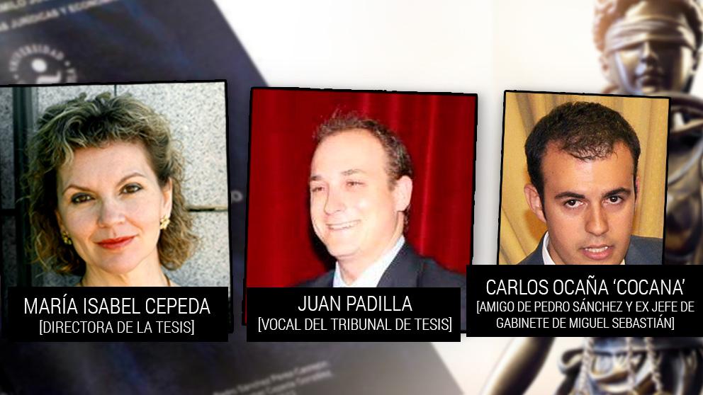 María Isabel Cepeda, Juan Padilla y Carlos Ocaña.