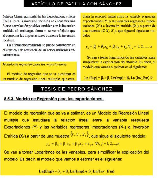 Sánchez plagió artículos redactados con un miembro del tribunal y no le citó en la tesis