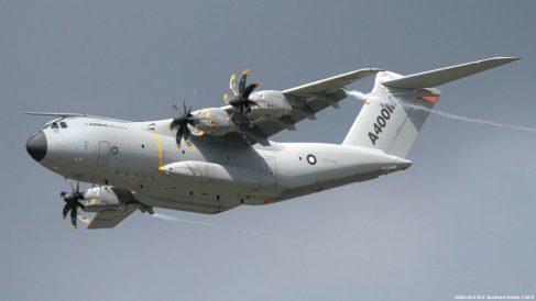 El avión militar de carga A400M, que Airbus ensambla en las plantas de Sevilla, Getafe y Cádiz.