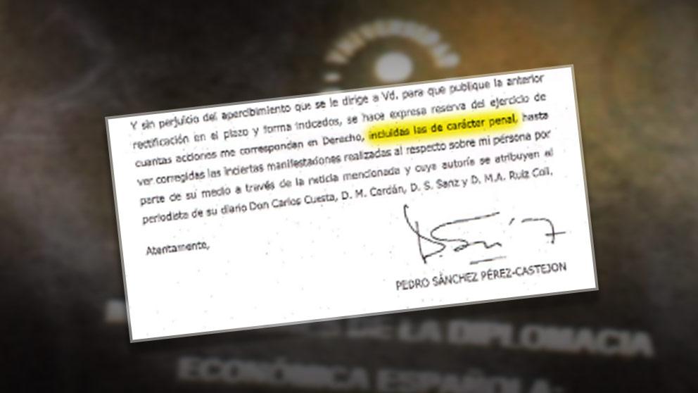 Sánchez amenaza a Inda con acciones penales si no se retracta de la información