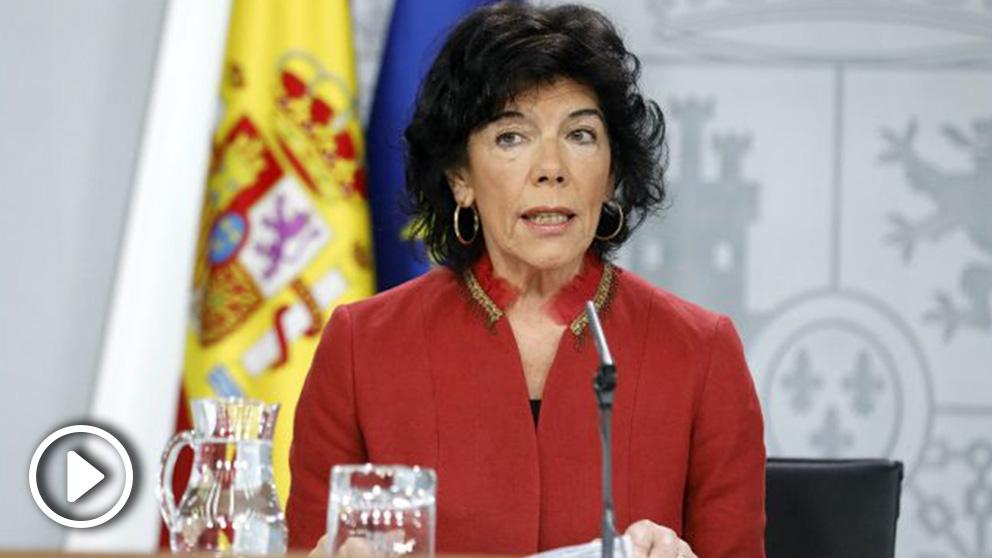 Isabel Celaá, ministra portavoz del Gobierno. (EP)