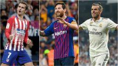 Atlético-Eibar, Real Sociedad-Barcelona y Athletic-Real Madrid, los platos fuertes del 'Supersábado'.