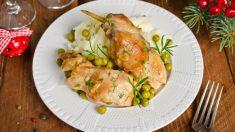 Receta de Conejo en salsa gorgonzola fácil de preparar