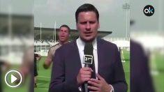 Cristiano Ronaldo vacila a un periodista.