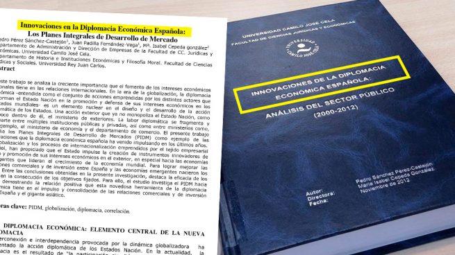 El título de la tesis apareció tal cual en un artículo previo de Sánchez con el examinador Padilla.