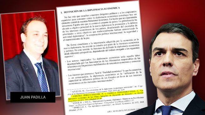 Sánchez ocultó en su tesis al vocal del tribunal que hizo de 'negro' pero sí lo citó en un artículo previo