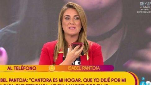 Isabel Pantoja entra en directo en 'Sálvame' para hablar de 'GH VIP 2018'