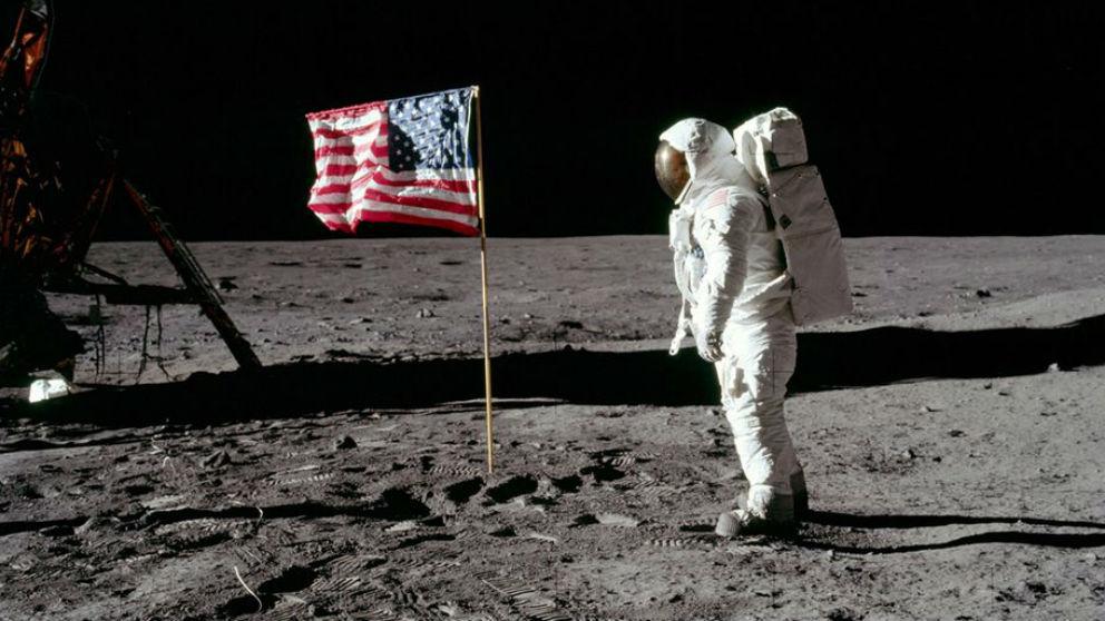 La llegada del primer hombre a la Luna en 1969 (Foto: NASA).