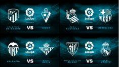 Partidos de la Liga Santander hoy.