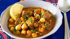 Receta de garbanzos con cordero al curry