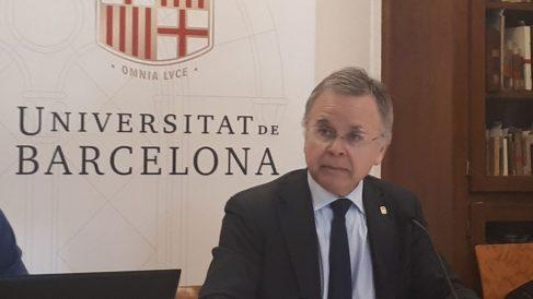 El rector de la Universitat de Barcelona (UB), Joan Elias. Foto: Europa Press
