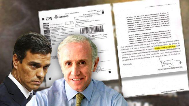 """Sánchez exige a Inda por burofax que se retracte y éste le responde: """"No cambiaremos ni una coma"""""""