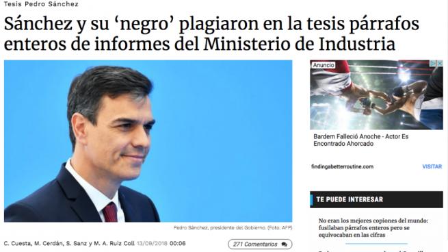 Sánchez exige a OKDIARIO que se retracte de sólo una de las 18 informaciones publicadas sobre su tesis