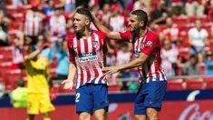 Borja Garcés celebra el gol del empate del Atlético contra el Eibar. (EFE)