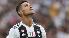 Cristiano Ronaldo se lamenta en un partido de la Juventus (Getty).