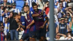 Luis Suárez celebra un gol en Anoeta. (Getty)