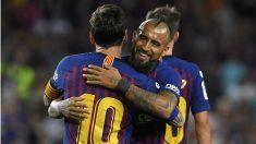Arturo Vidal, titular contra el Girona. (AFP)