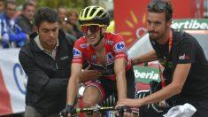 Yates llega a meta en La Gallina. (AFP)