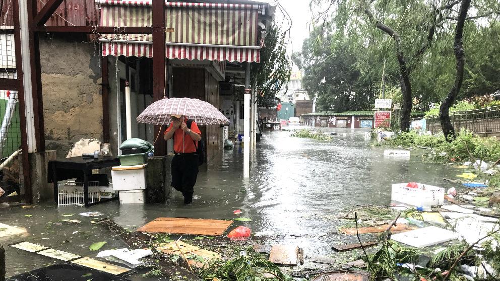 Foto de archivo de Filipinas en estado de emergencia