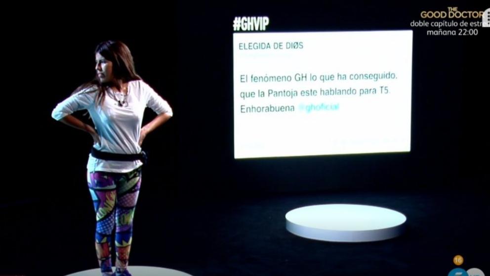 Isa Pantoja en «La sala del más allá» de 'GH VIP 2018', (Foto: Telecinco)