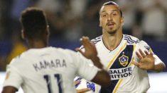 Ibrahimovic celebra un gol con LA Galaxy. (AFP)