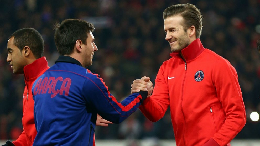 Beckham podría llevarse a Messi a Estados Unidos. (Getty)