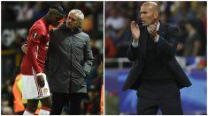 Pogba quiere a Zidane en el banquillo del United. (Getty)