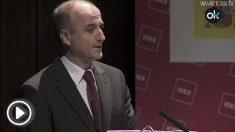 El entonces ministro de Industria, Miguel Sebastián, en una presentación sobre el ICEX.