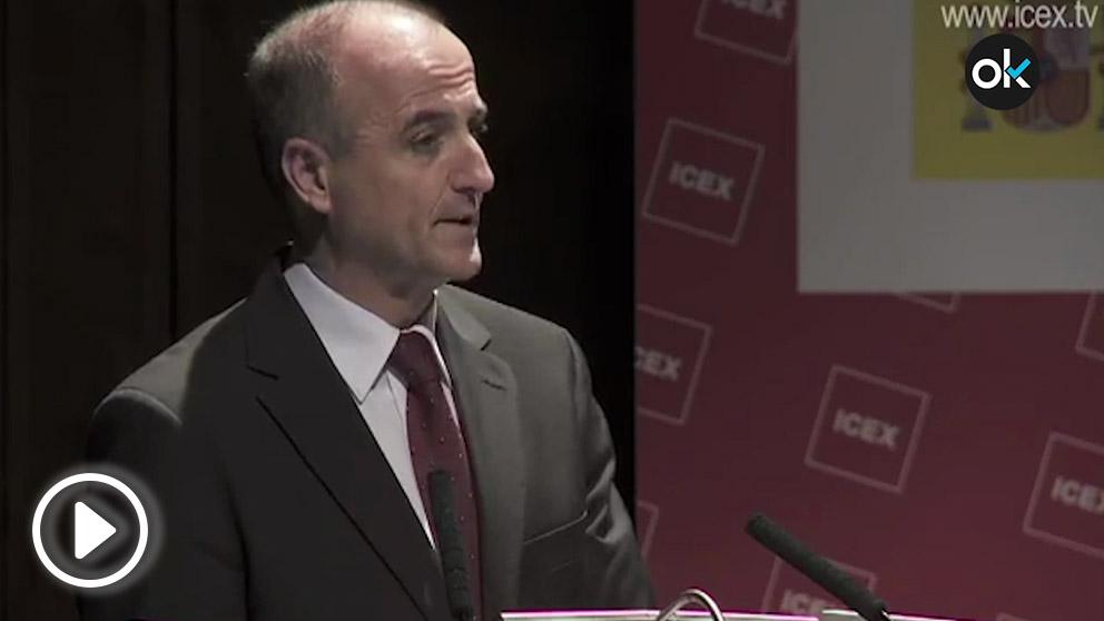 El ex ministro de Industria, Miguel Sebastián, en una presentación sobre el ICEX.