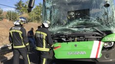 Accidente múltiple en la A-42. (Foto: Europa Press)