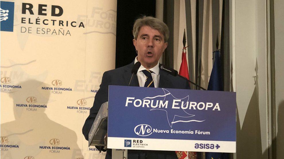 Ángel Garrido, en el Nueva Economía Fórum. (TW)