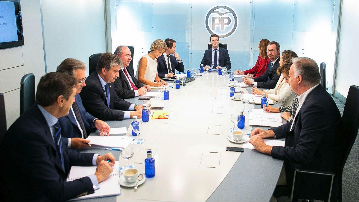 Casado en la reunión del Comité de Dirección del PP (RRSS).