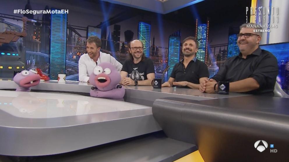 Los tres humoristas en 'El Hormiguero'