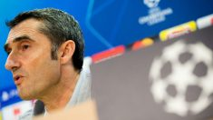 Ernesto Valverde, en la rueda de prensa previa al partido de Champions League contra el PSV. (EFE)