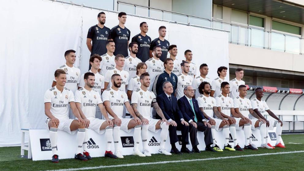 El Real Madrid se hizo la foto oficial en la mañana del lunes. (Realmadrid.com)