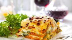 Receta de Lasaña de verduras con queso de cabra fácil de preparar