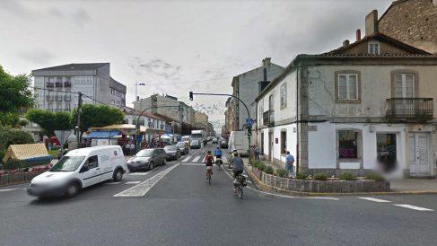 Calles principales de Melide, provincia de La Coruña, donde se produjo el suceso.