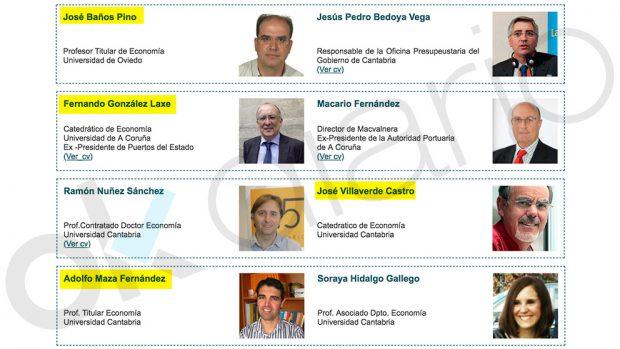 Miembros del tribunal de la tesis de Casares que imparten clase en el máster que dirige el socialista