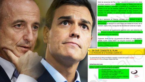 Sánchez no citó en su tesis doctoral la presentación que hizo Sebastián del plan 'Made in Spain'.