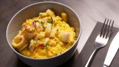 Receta de timbal de arroz con calamares
